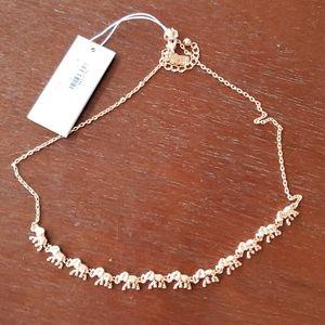 NWT Elephant Necklace